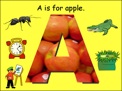 "image of student-created ""A is for project"""